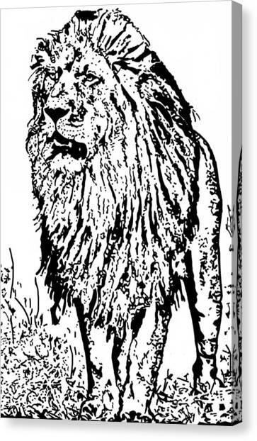The King Canvas Print by Lori Jackson