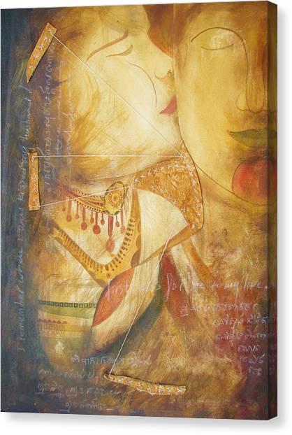 The Kiss Canvas Print by Mao Soviet