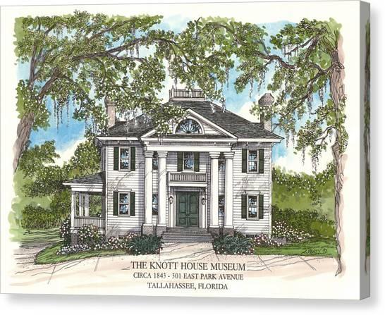 The Knott House Circa 1843 Canvas Print