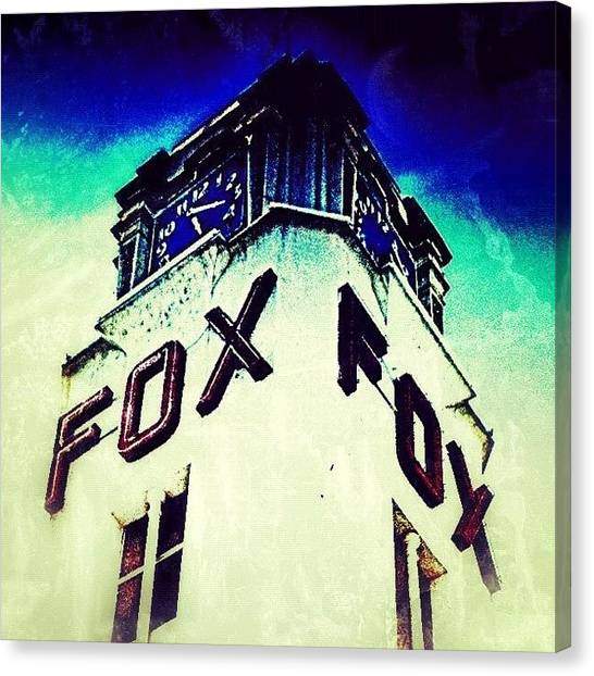 Foxes Canvas Print - The Lackey Premiere @ The Fox Downtown by Glen Campbell