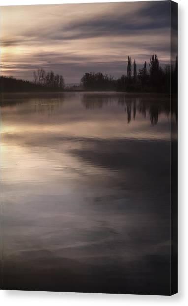 The Lake Canvas Print by Akos Kozari