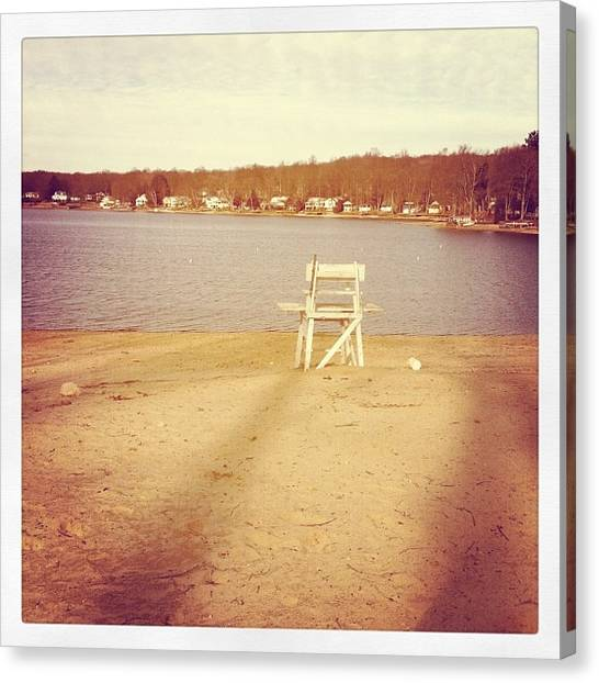 Lifeguard Canvas Print - The Lake by Jessica Stonger