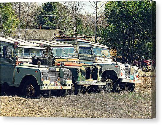 The Land Rover Graveyard Canvas Print
