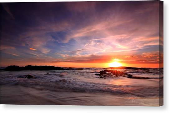 The Last Rays Canvas Print