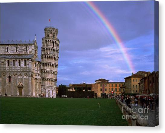 The Leaning Tower Of Pisa Canvas Print by Serge Fourletoff