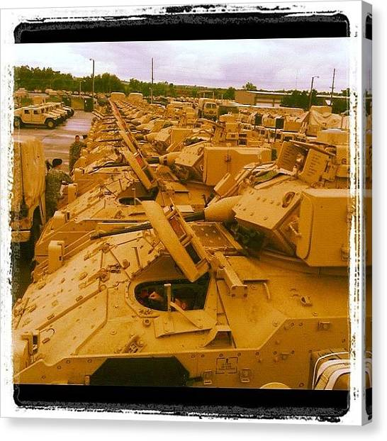 War Canvas Print - The Life Of Mechanized Infantry by Cody Barnhart