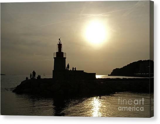 The Lighthouse - Sanary-sur-mer Canvas Print by Rod Jones