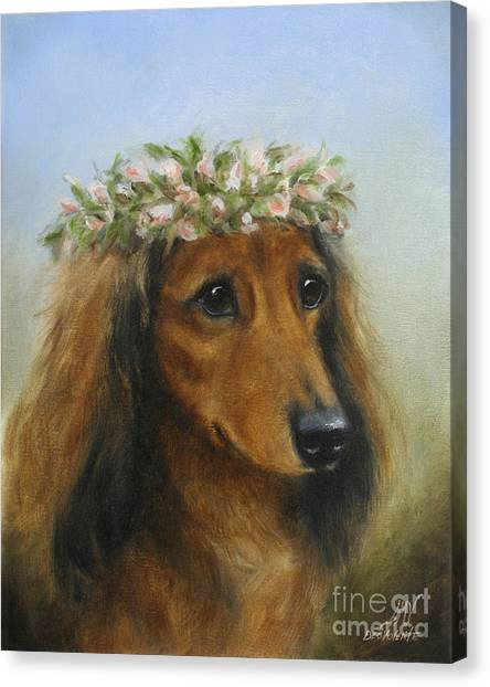 The Little Flower Girl Canvas Print by Stella Violano