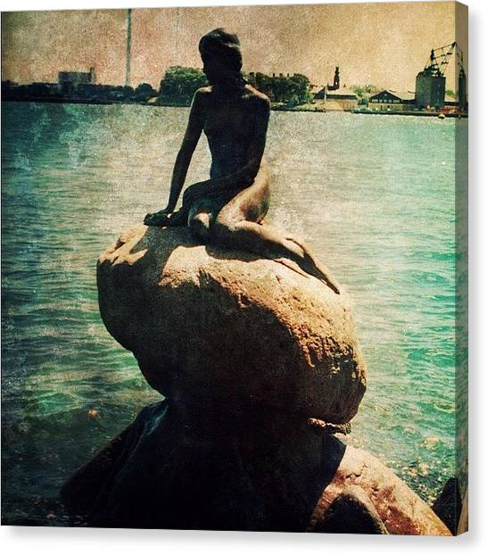 Mermaids Canvas Print - The Little Mermaid (copenhagen, Denmark) by Natasha Marco