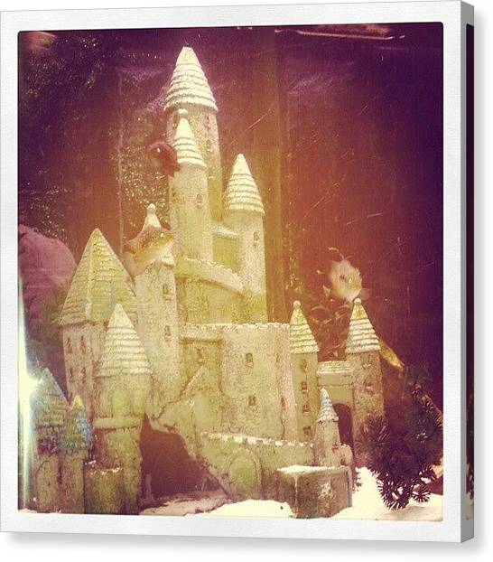 Fish Tanks Canvas Print - The Living Castle by Kensta Lopez