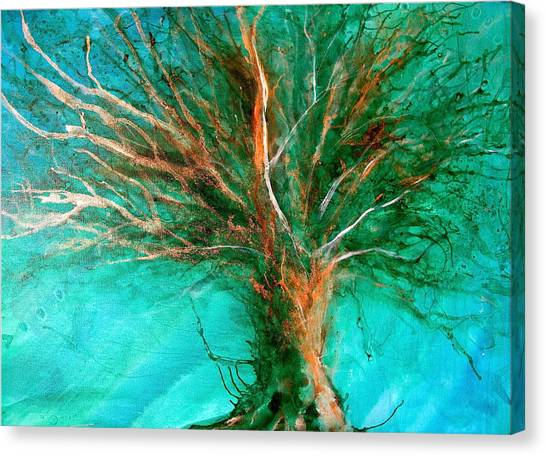 The Lone Tree Canvas Print by Heather Matthews