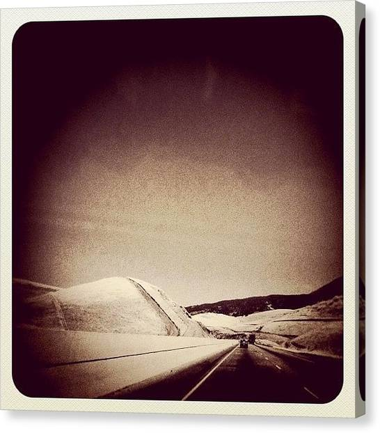 Driving Canvas Print - The Long Road Home by Kim Hudson