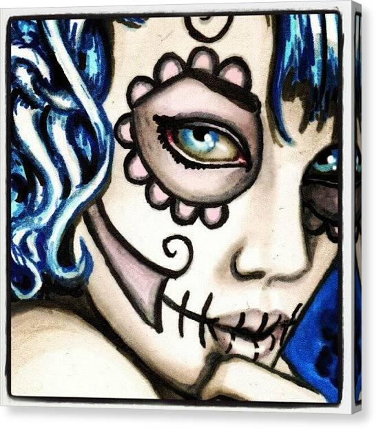 Skulls Canvas Print - The Look by Shayne  Bohner