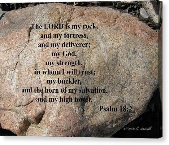 The Lord Is My Rock... Canvas Print