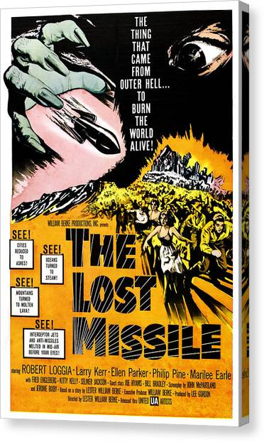 Missles Canvas Print - The Lost Missle, 1958 by Everett