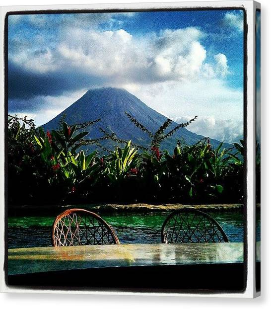 Arenal Volcano Canvas Print - The Lost Springs Costa Rica by Crystal Duncanson