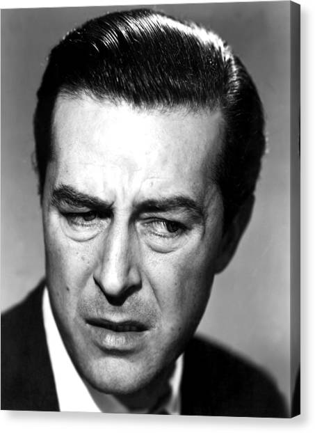 1945 Movies Canvas Print - The Lost Weekend, Ray Milland, 1945 by Everett