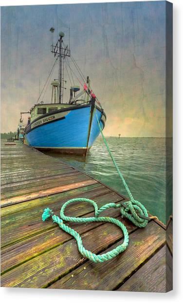 Crabbing Canvas Print - The Lurcher Digger by Debra and Dave Vanderlaan