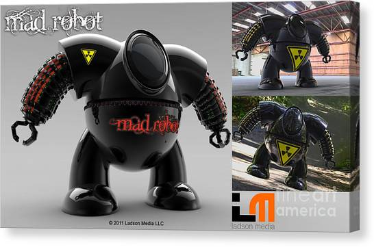 The Mad Robot Canvas Print