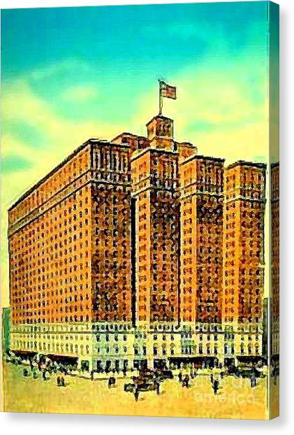 The Manger Hotel In New York City C.1920's Canvas Print by Dwight Goss