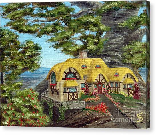 The Manor Cottage From Arboregal Canvas Print