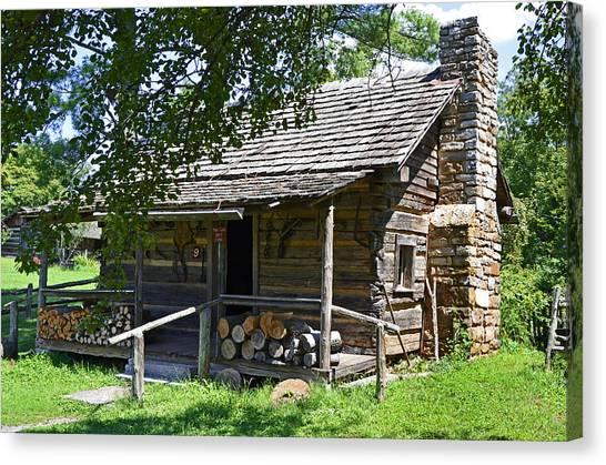 The Mark Twain Family Cabin Canvas Print