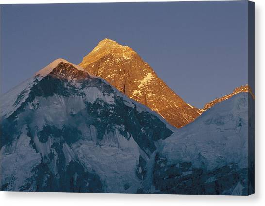 Mount Everest Canvas Print - The Massive 8848 Meter, Or 29,198-foot by Bobby Model
