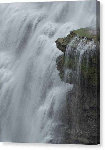 The Middle Falls I Canvas Print by Neal Blizzard