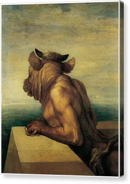 Minotaurs Canvas Print - The Minotaur by George Frederic Watts