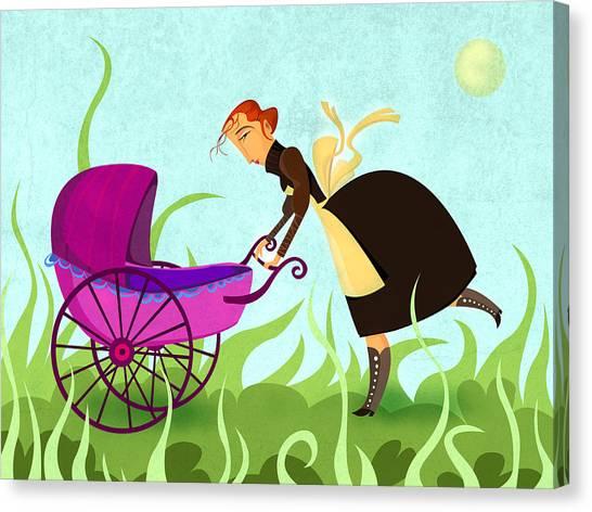 The Mom Canvas Print by Autogiro Illustration