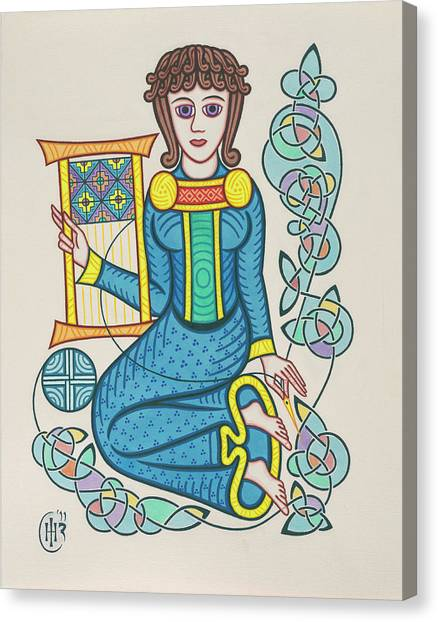 Knotwork Canvas Print - The Mother by Ian Herriott