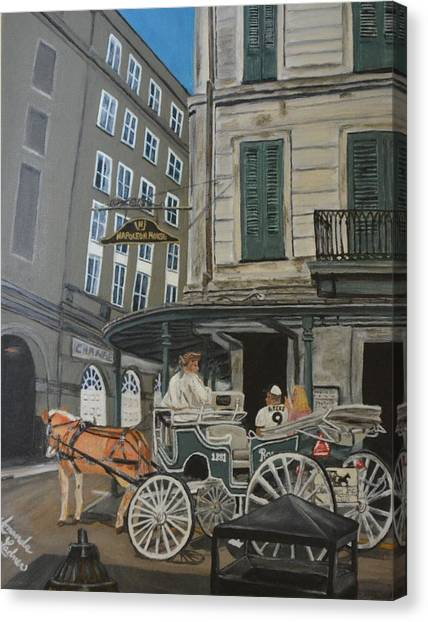 Drew Brees Canvas Print - The Napolean House by Amanda Ladner