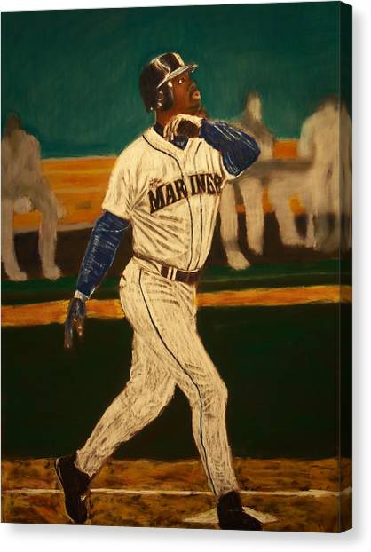 Seattle Mariners Canvas Print - The Natural by D Rogale