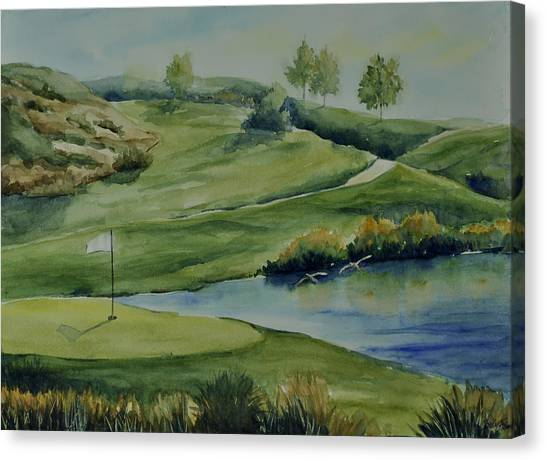 The Nature Of Golf At Tpc Canvas Print