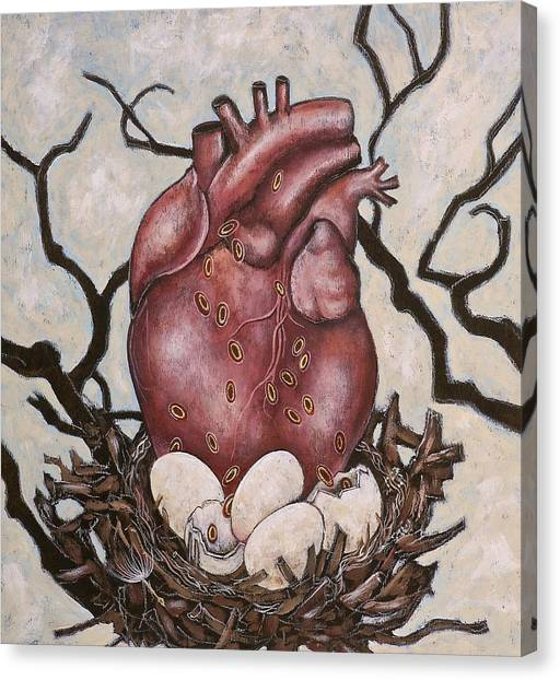 The Nest Of My Heart Canvas Print