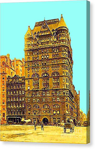 The Netherland Hotel In New York City In 1910 Canvas Print by Dwight Goss