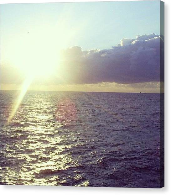 Ocean Sunsets Canvas Print - The North Sea #crusing by Kate Murphy