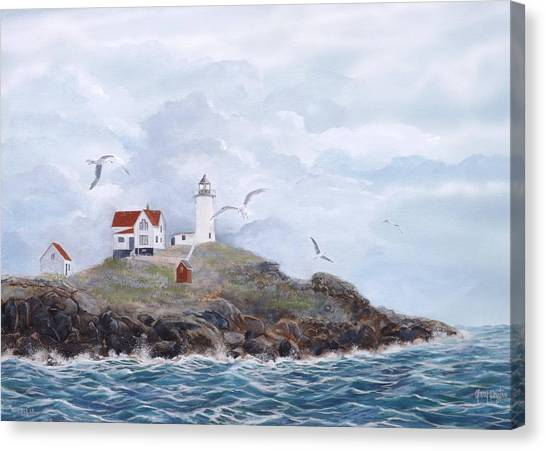 The Nubble Light Canvas Print