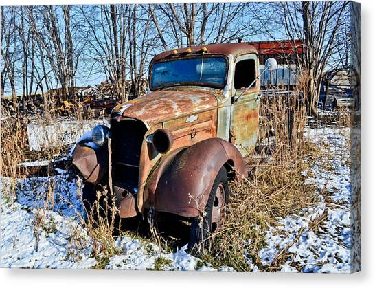 The Old Chevy Canvas Print by Brenda Becker