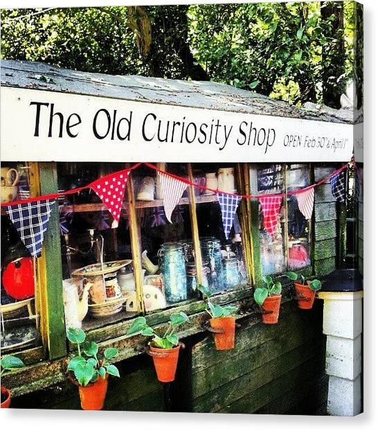 Quirky Canvas Print - The Old Curiosity Shop by Natasha Futcher