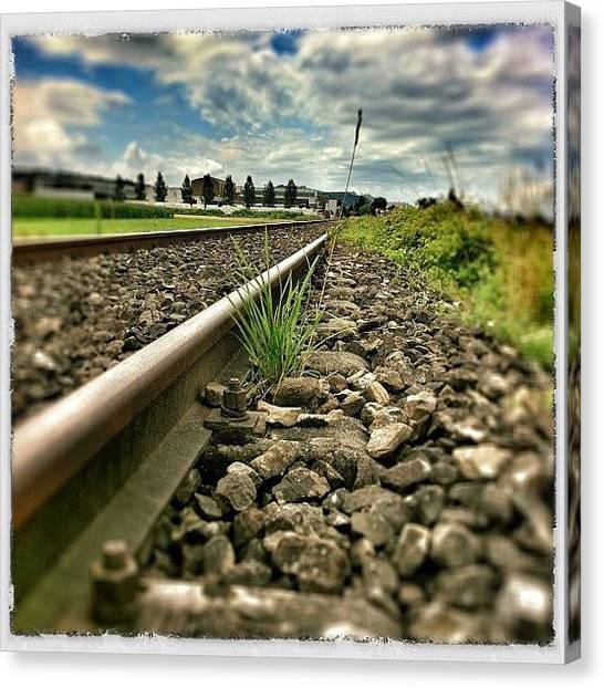 Swiss Canvas Print - The Old Railway Tracks by Urs Steiner