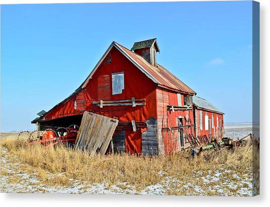The Old Red Barn Canvas Print by Brenda Becker
