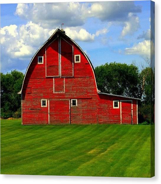 Saskatchewan Canvas Print - The #old #red #barn. #saskatchewan by Michael Squier
