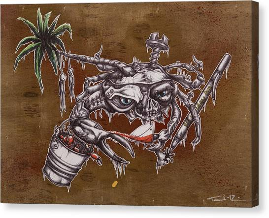 Ballpoint Pens Canvas Print - The One Who Escapes The Bucket Often Toasts With The Wicked by Tai Taeoalii
