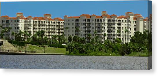 Aqua Condominiums Canvas Print - The Ormond Hotel by DigiArt Diaries by Vicky B Fuller