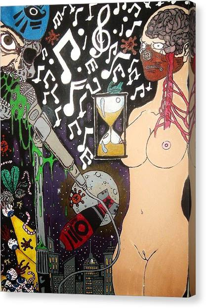 The Other Side Of Music Canvas Print by Ragdoll Washburn