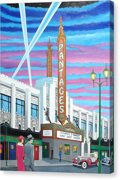 The Pantages Theatre Canvas Print