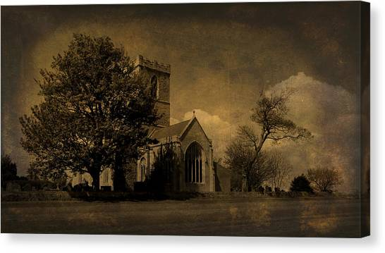 The Parish Church Of St Andrew Texture Canvas Print