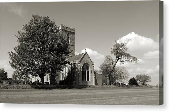 The Parish Church Of St Andrewbw Canvas Print