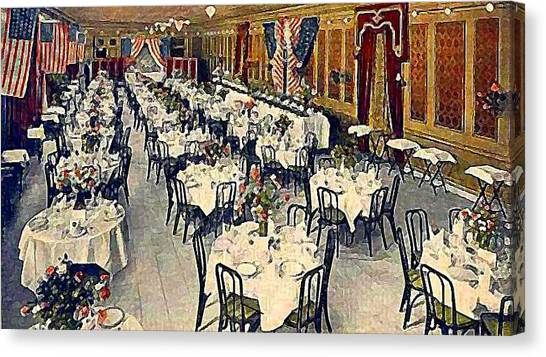The Park Avenue Hotel Banquet Hall In 1910 Canvas Print by Dwight Goss